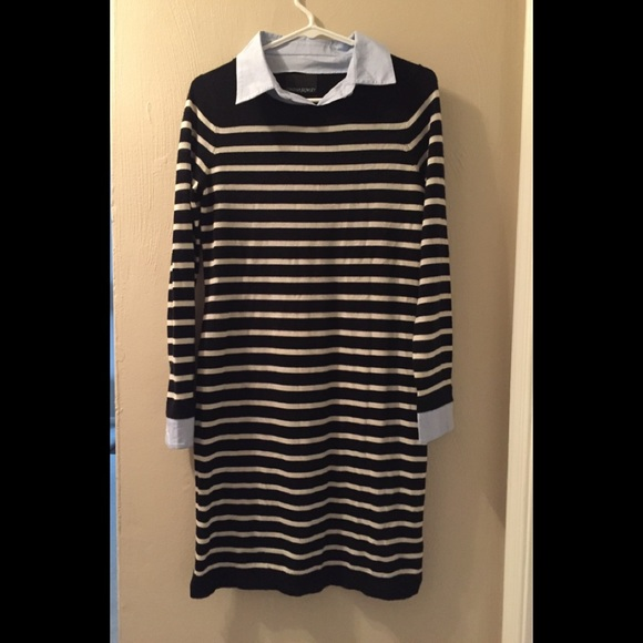 c2843ccead2 Cynthia Rowley Dresses   Skirts - Cynthia Rowley Striped Sweater Dress with  Collar M